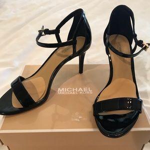 Michael Kors Simone Sandal Patent Black
